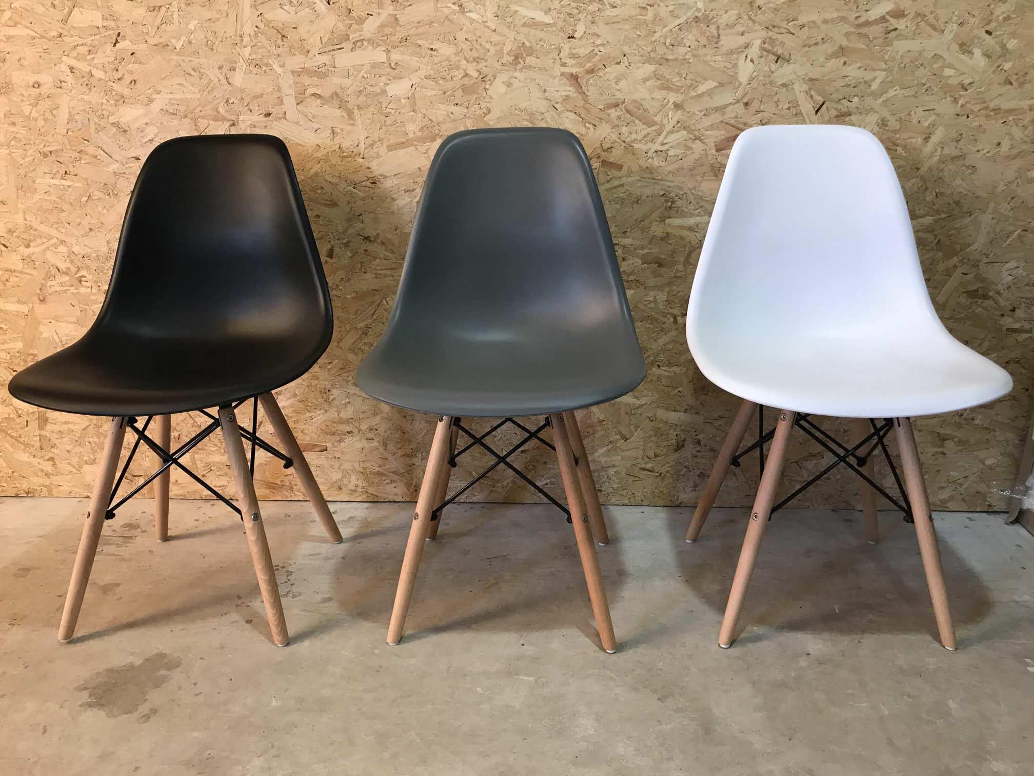 Eames Replica Stoel : Afrit 29 starterscollectie sergei zwart grijs wit replica eames dsw