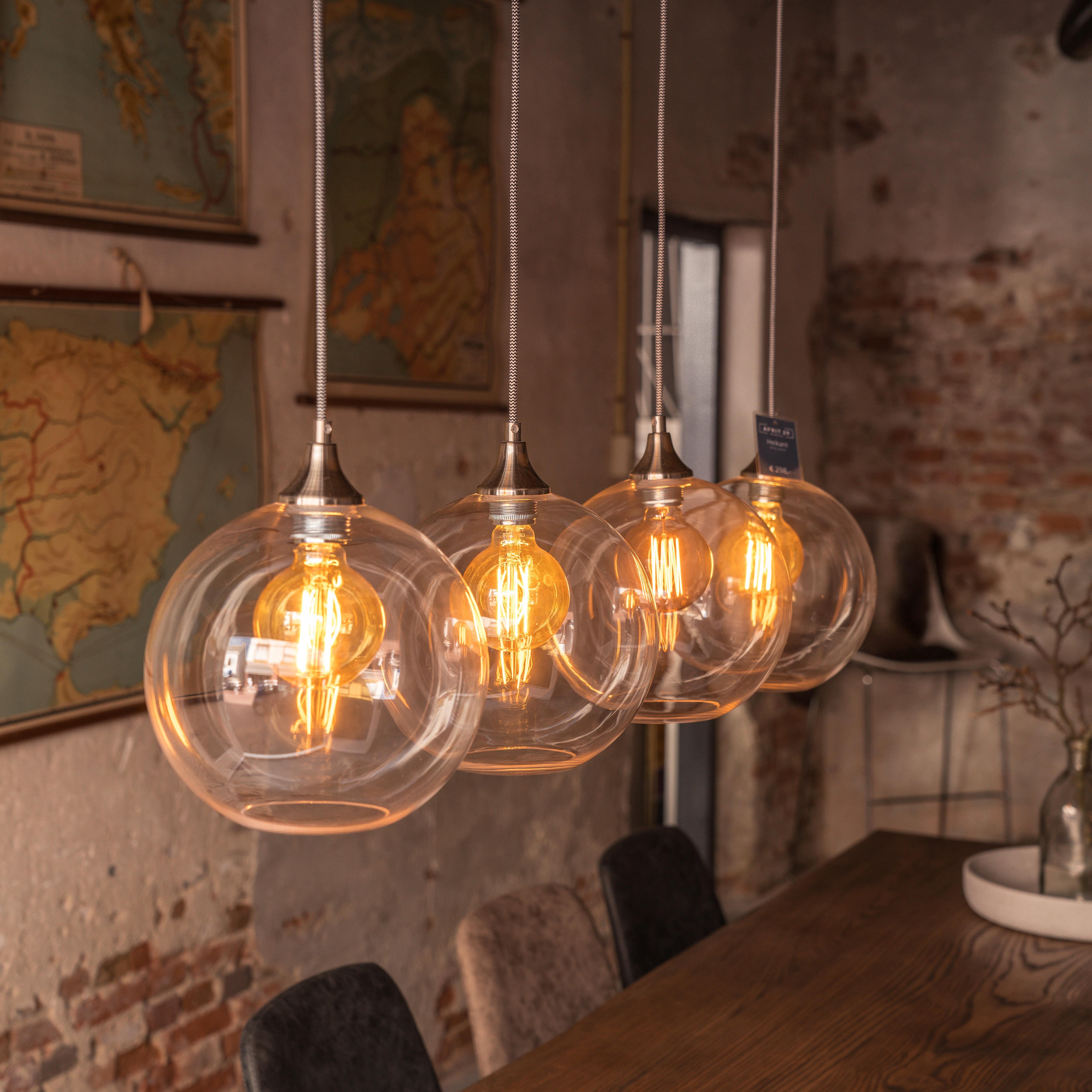 Super Hanglamp Heikant - glazen bollen 052-29-4411 - Afrit 29 Sint-Oedenrode ZF-37